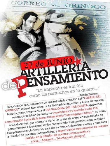 """Aranguibel: """"El periodismo debe estar del lado de las luchas populares por la justicia y la igualdad"""""""