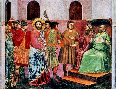 Cristo ante Caifas_Giotto Scrovegni